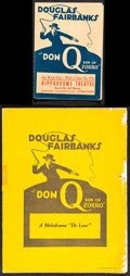 """Movie Posters:Swashbuckler, Don Q, Son of Zorro (United Artists, 1925/1926). Folded, Fine-. Herald (Folded: 5"""" X 7"""", Unfolded: 10"""" X 7"""") & Program (18 P... (Total: 2 Items)"""