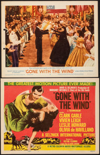 """Gone with the Wind (MGM, R-1954/R-1961). Fine/Very Fine on Paper. Title Lobby Card & Lobby Card (11"""" X 14&q..."""