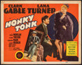 """Movie Posters:Western, Honky Tonk (MGM, 1941). Fine+. Title Lobby Card (11"""" X 14""""). Western.. ..."""