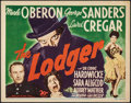 "Movie Posters:Horror, The Lodger (20th Century Fox, 1944). Very Fine-. Title Lobby Card (11"" X 14""). Horror.. ..."