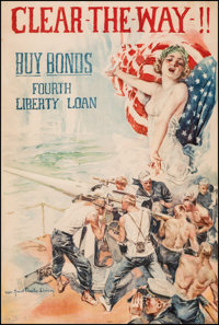 "World War I ""Christy Girl"" Propaganda (U.S. Government Printing Office, 1918). Fine/Very Fine on Linen. Full-B..."