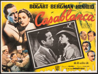 "Casablanca & Other Lot (Warner Bros., R-1950s). Very Fine. Mexican Lobby Card (16.5"" X 12.5""), Photo (..."