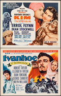 "Movie Posters:Adventure, Ivanhoe & Other Lot (MGM, R-1962). Rolled & Folded, Overall: Very Fine-. Half Sheets (15) (22"" X 28""). Adventure.. ... (Total: 15 Items)"