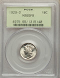 Mercury Dimes: , 1929-D 10C MS65 Full Bands PCGS. PCGS Population: (466/209). NGC Census: (247/83). CDN: $140 Whsle. Bid for problem-free NG...
