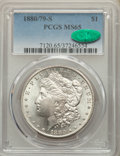1880/79-S $1 8 Over 7 MS65 PCGS. CAC. PCGS Population: (245/160). NGC Census: (0/0). CDN: $165 Whsle. Bid for NGC/PCGS M...