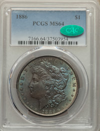 1886 $1 MS64 PCGS. CAC. PCGS Population: (48558/21547). NGC Census: (58961/28795). MS64. Mintage 19,963,886. ...(PCGS# 7...