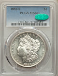 1882-S $1 MS66+ PCGS. CAC. PCGS Population: (5325/1152 and 242/178+). NGC Census: (6656/1887 and 190/82+). MS66. Mintage...