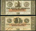 Obsoletes By State:Georgia, Milledgeville, GA- State of Georgia $5; $10 Jan. 15, 1862 Crisp Uncirculated or Better.. ... (Total: 2 notes)