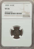 1830 H10C VF35 NGC. NGC Census: (9/522). PCGS Population: (26/772). VF35. Mintage 1,200,000. ...(PCGS# 4277)