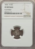 Bust Half Dimes, 1836 H10C Large 5C -- Cleaned -- NGC Details. XF. Mintage 1,900,000....