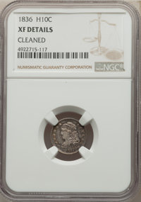1836 H10C Large 5C -- Cleaned -- NGC Details. XF. Mintage 1,900,000....(PCGS# 4287)