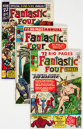 Silver Age (1956-1969):Superhero, Fantastic Four Annual #1-4 Group (Marvel, 1963-66) Condition: Average VG+.... (Total: 4 Comic Books)