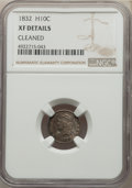 Bust Half Dimes: , 1832 H10C -- Cleaned -- NGC Details. XF. Mintage 965,000. ...