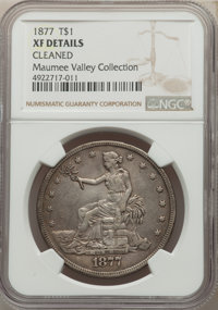 1877 T$1 -- Cleaned -- NGC Details. XF. Ex: Maumee Valley Collection. Mintage 3,039,710....(PCGS# 7044)