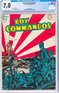 Golden Age (1938-1955):War, Boy Commandos #9 (DC, 1944) CGC FN/VF 7.0 Off-white pages....