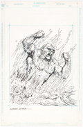 Alfredo Alcala Swamp Thing Toy Illustration Original Art (DC Comics/Kenner, c. 1989)