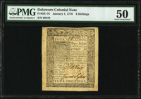 Delaware January 1, 1776 4s PMG About Uncirculated 50