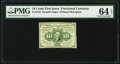 Fr. 1243 10¢ First Issue PMG Choice Uncirculated 64 EPQ