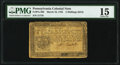 Colonial Notes:Pennsylvania, Pennsylvania March 16, 1785 5s PMG Choice Fine 15.. ...
