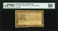 Colonial Notes:Pennsylvania, Pennsylvania March 16, 1785 9d PMG Very Fine 30.. ...