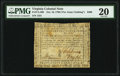Colonial Notes:Virginia, Virginia October 16, 1780 (For Clothing the Army) $400 PMG Very Fine 20.. ...