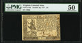 Colonial Notes:Virginia, Virginia October 20, 1777 $4 PMG About Uncirculated 50.. ...