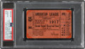 Baseball Collectibles:Tickets, 1917 World Series Game Five Ticket Stub, PSA Authentic. ...