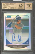 Baseball Cards:Singles (1970-Now), 2013 Bowman Chrome Draft Picks Autographs Refractors Aaron Judge #AJ BGS Gem Mint 9.5 - Auto 10....