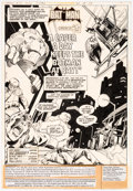 Original Comic Art:Panel Pages, Walt Simonson and Dick Giordano Batman #312 Splash Page 1 Original Art (DC Comics, 1979)....