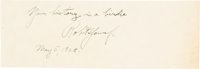 "1928 Bobby Jones ""Your History is a Birdie"" Signed Cut Signature"