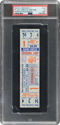 Baseball Collectibles:Tickets, 1962 New York Mets Opening Day Full Ticket, PSA VG 3 MK. ...