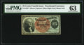 Fractional Currency:Fourth Issue, Fr. 1307 25¢ Fourth Issue PMG Choice Uncirculated 63.. ...