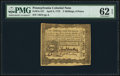 Colonial Notes:Pennsylvania, Pennsylvania April 3, 1772 2s 6d PMG Uncirculated 62 EPQ.. ...