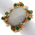 Estate Jewelry:Rings, Opal, Emerald, Diamond, Gold Ring . ...