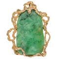 Estate Jewelry:Pendants and Lockets, Jadeite Jade, Gold Pendant . ...