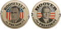 Political:3D & Other Display (1896-present), Franklin D. Roosevelt and Herbert Hoover: Pair of License Plate Attachments.... (Total: 2 Items)