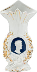 Political:Memorial (1800-present), Abraham Lincoln: Possibly Unique Mourning Vase....