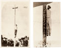 Western Expansion:Cowboy, [Tombstone] Law Enforcement: Pair of Real Photo Lynching P...