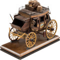 Western Expansion:Cowboy, Model Virginia City Stage Coach by Oscar Cortez Dated 1996....