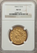 Liberty Eagles: , 1844-O $10 AU53 NGC. NGC Census: (55/147). PCGS Population: (30/31). CDN: $2,400 Whsle. Bid for NGC/PCGS AU53. Mintage 118,...