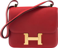 Hermès 23cm Rogue Casaque Evercolor Leather Constance Bag with Gold Hardware X, 2016 Condition: 3