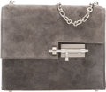 "Luxury Accessories:Bags, Hermès Gris Asphalt Suede Verrou Chaine Mini Bag with Palladium Hardware. A, 2017. Condition: 1. 6.5"" Width x 5.5""..."