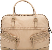 "Gucci Cream Leather Large Sabrina Boston Bag Condition: 3 17"" Width x 11"" Height x 5"" Depth"