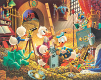 Carl Barks An Embarrassment of Riches Signed Limited Edition Lithograph Print #272/395 (Another Rainbow, 1983)