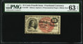 Fractional Currency:Fourth Issue, Fr. 1267 15¢ Fourth Issue PMG Choice Uncirculated 63 EPQ.. ...