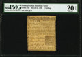 Pennsylvania March 10, 1769 1s PMG Very Fine 20 Net