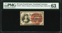 Fr. 1257 10¢ Fourth Issue PMG Choice Uncirculated 63