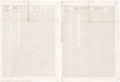 "Books:Americana & American History, [Mormons]. [Newspapers]. Deseret News. ""Truth and Liberty"". Great Salt Lake City: 1852. First editions, two issues o..."