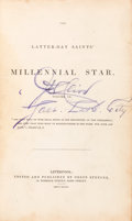 Books:Religion & Theology, [Mormons]. The Latter-Day Saints' Millennial Star. Liverpool: 1847. Volume IX, Nos. 1 to 24 (lacking no. 4). First e...