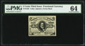 Fractional Currency:Third Issue, Fr. 1238 5¢ Third Issue PMG Choice Uncirculated 64.. ...